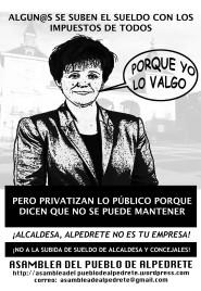 ¡alcaldesa, alpedrete no es tu empresa!